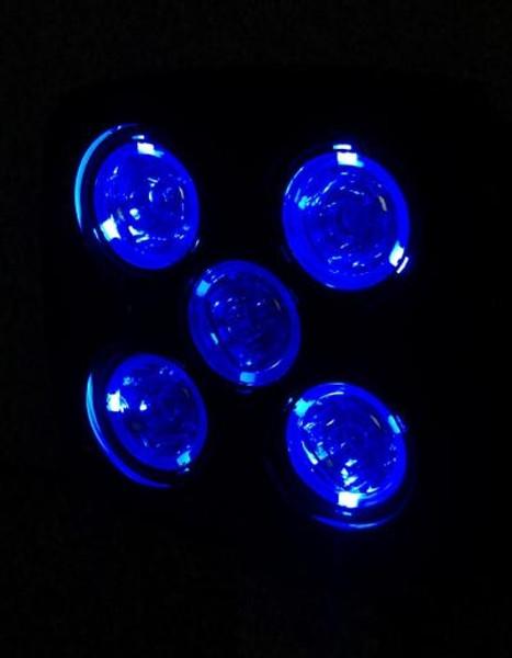 Polaris RZR 4.5 Inch Work Light 50 Watt Spot RGB Accent Megaton Series Quad-Lock/Interlock by Quake LED