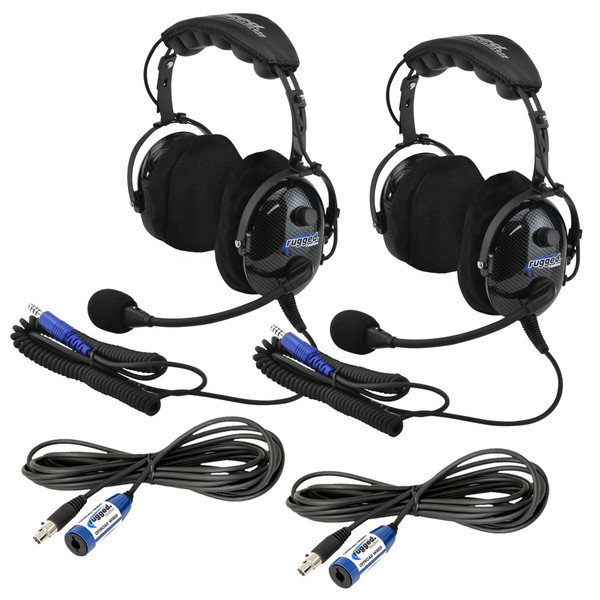"""Polaris RZR """"Plus 2"""" H22 Headset and Cable Expansion Kit By Rugged Radios"""