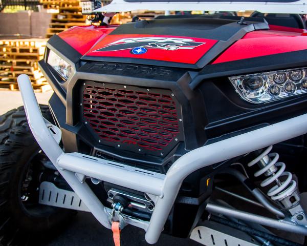Polaris RZR 1000/XP Turbo Red Premium Grill by Agency Power