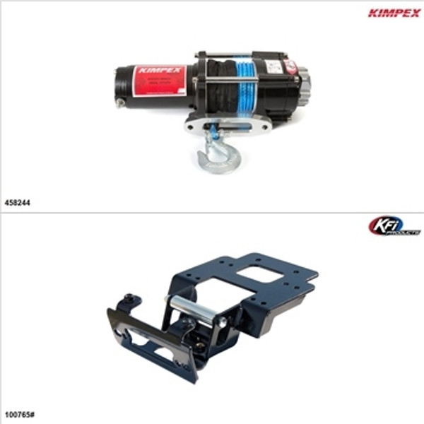 Polaris RZR 4 XP 900 Synthetic 3500LB Winch and Winch Mount Kit by Kimpex