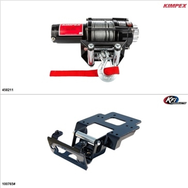 Polaris RZR 4 XP 900 Steel 3500LB Winch and Winch Mount Kit by Kimpex