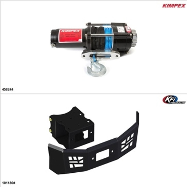 Polaris ACE 570 Synthetic 3500LB Winch and Winch Mount Kit by Kimpex