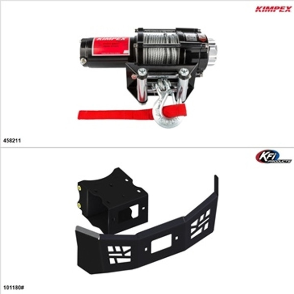Polaris ACE 150 Steel 3500LB Winch and Winch Mount Kit by Kimpex