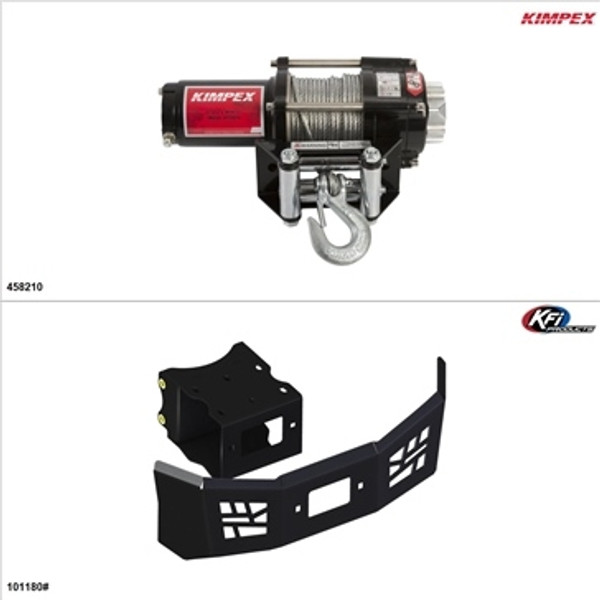 Polaris ACE 570 Steel 2500LB Winch and Winch Mount Kit by Kimpex