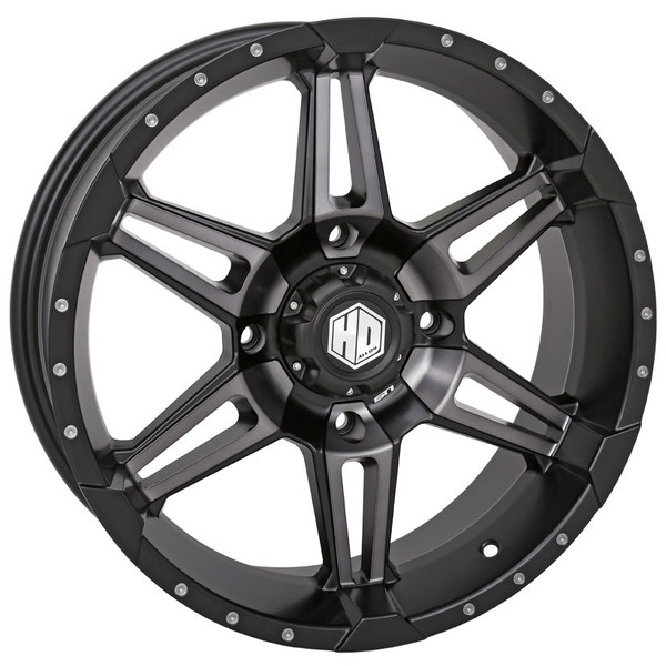 "Polaris RZR 18"" Hd7 Atv Wheels/Rims Smoke"
