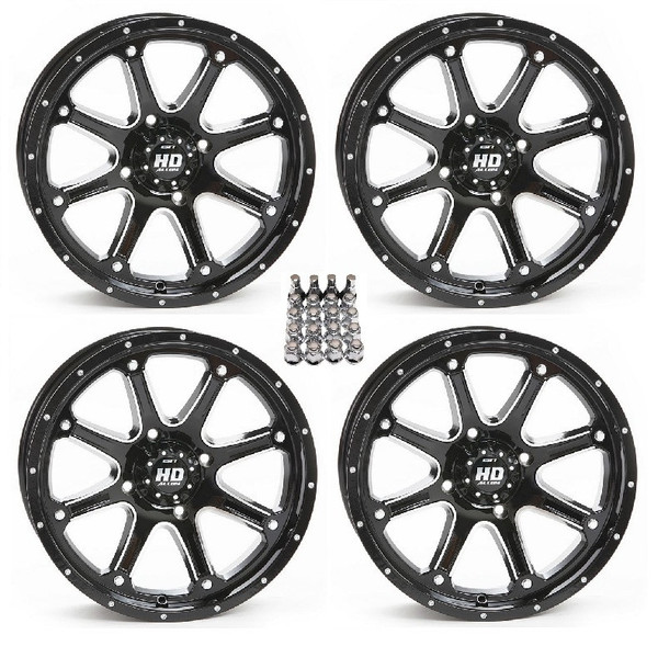 "Polaris RZR 15"" Hd4 Atv Black Wheels/Rims by STI"