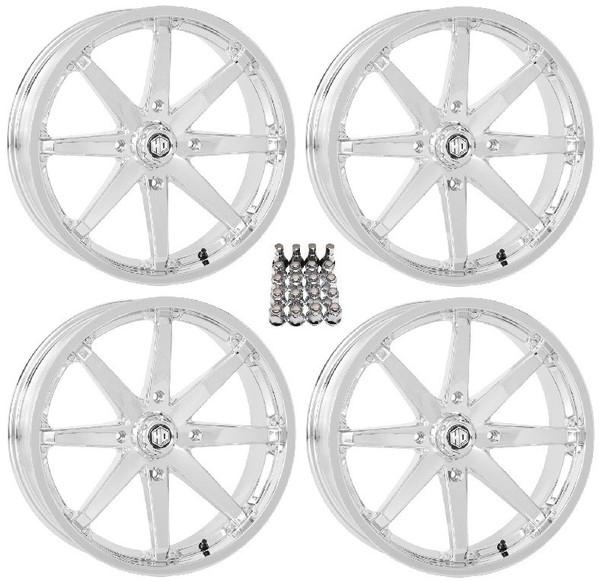 "Polaris RZR 20"" Chrome Hd10 Atv Wheels/Rims by STI"