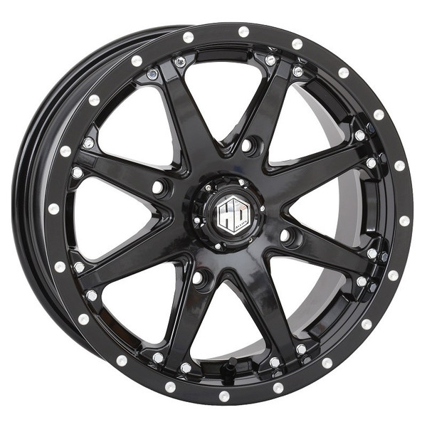 "Polaris RZR 15"" Black Hd10 Atv Wheels/Rims by STI"