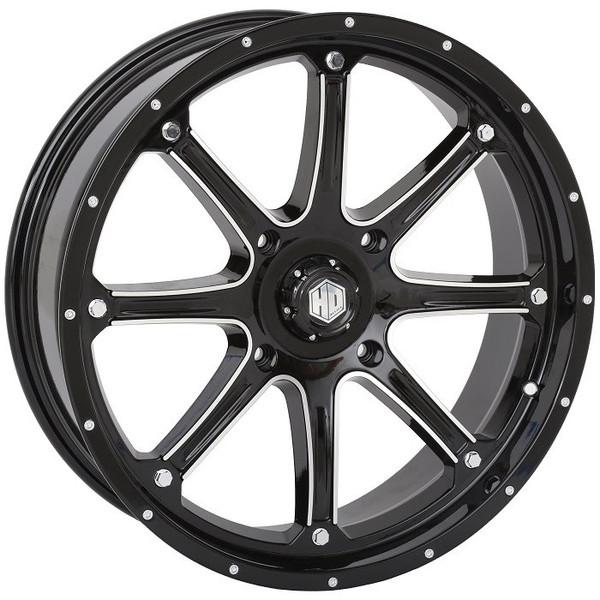 "Polaris RZR 20"" Black Hd4 Atv Wheels/Rims by STI"