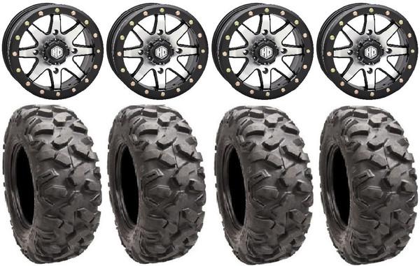 "Poalris RZR Hd9 15"" Beadlock Mh Wheels 34"" Roctane Xd Tires by STI"