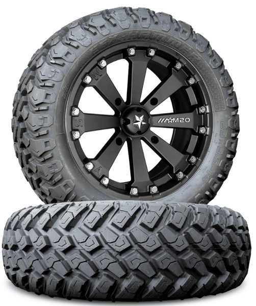 Polaris RZR 170 MSA M20 Kore Wheels w| EFX Hammer Tires by MSA Wheels And EFX Tires