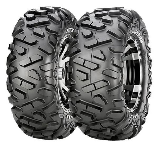 Poaris RZR HD9 Matte Black Comp Lock Beadlock Wheels w / Bighorn Radial Tires by Stiand Maxxis