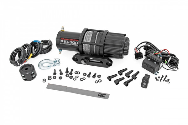 Polaris RZR 4500lb Utv/Atv Electric Winch W/ Synthetic Rope by Rough Country