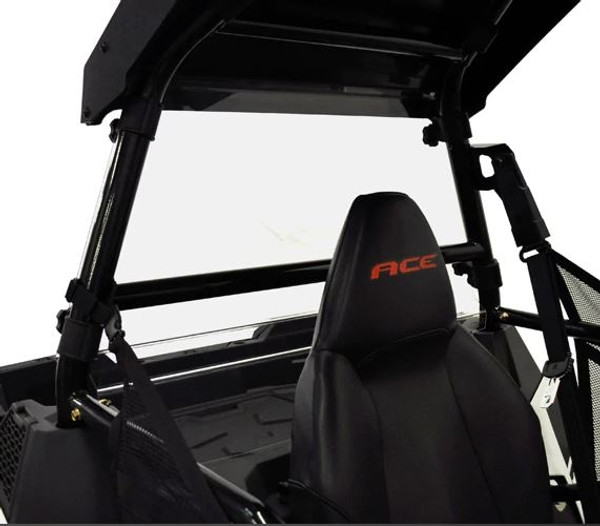 Polaris ACE Front Windshield/Roof Combo Package by Spike Powersports (EPRZR)