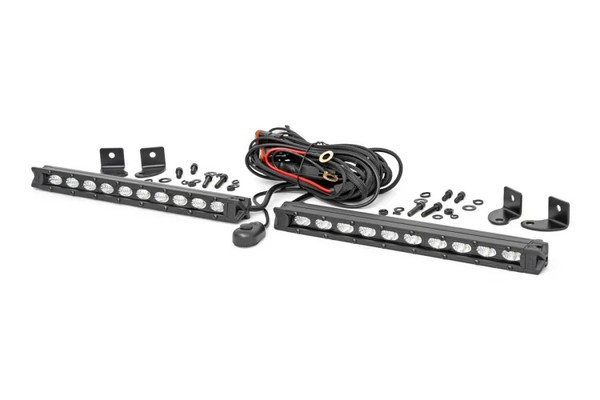 Polaris RZR 10-inch Slimline Cree LED Light Bars (Pair) by Rough Country