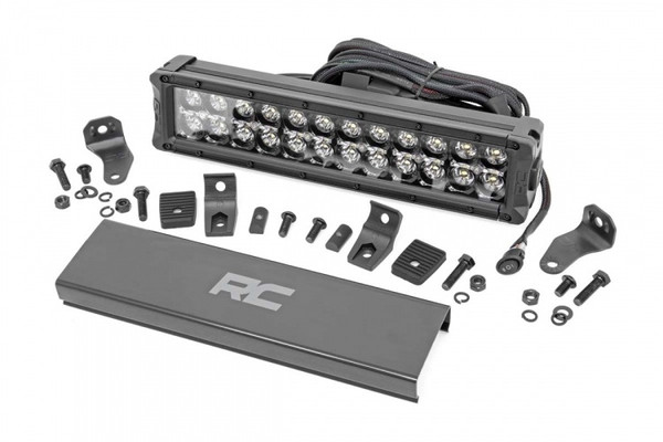 Polaris RZR 12-inch Cree LED Light Bar - (Dual Row   Black Series w/ Cool White DRL) by Rough Country