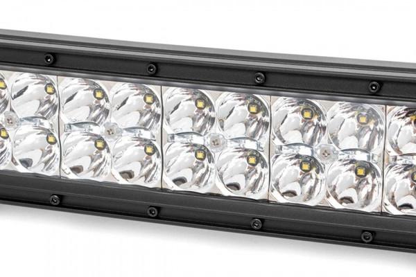 Polaris RZR 12-inch Cree LED Light Bar - (Dual Row   Chrome Series w/ Cool White DRL)