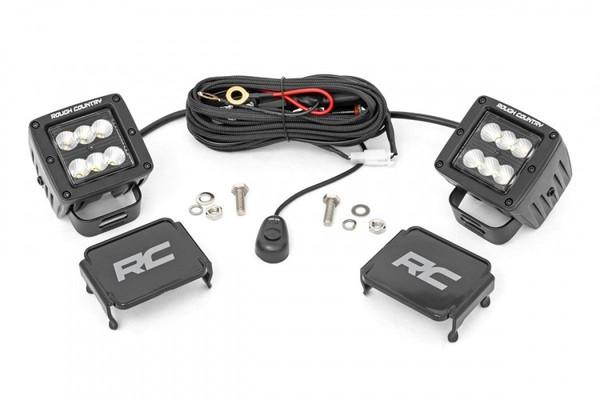 Polaris RZR 2-inch Square Cree LED Lights - (Pair | Black Series)