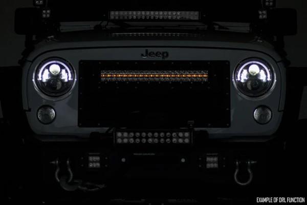 Polaris RZR 20-inch Cree LED Light Bar - (Dual Row | Black Series w/ Amber DRL)