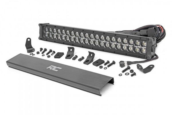 Polaris RZR 20-inch Cree LED Light Bar - (Dual Row | Black Series w/ Cool White DRL) by Rough Country