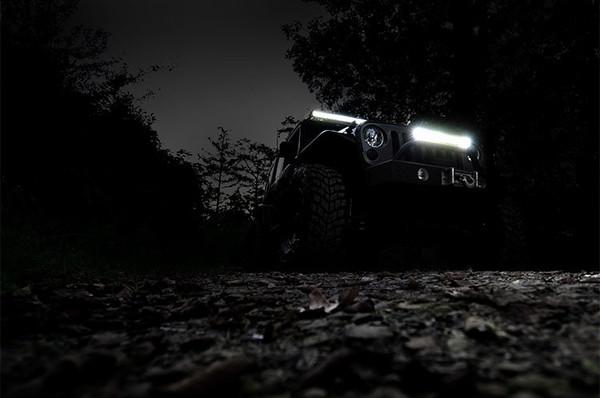 Polaris RZR 20-inch Cree LED Light Bar - (Dual Row | Chrome Series w/ Cool White DRL)