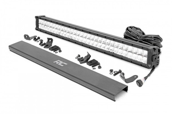 Polaris RZR 30-inch Cree LED Light Bar (Dual Row | Chrome Series w/ Cool White DRL) by Rough Country