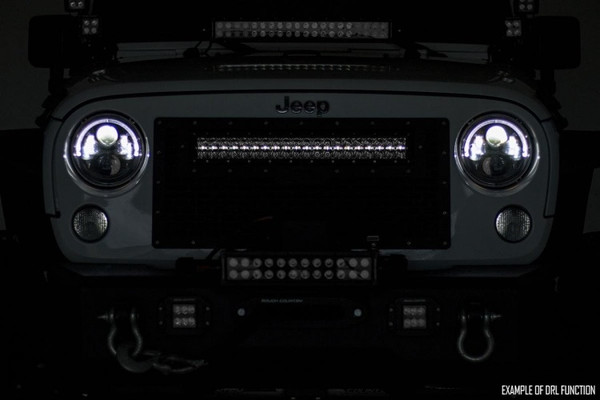 Command the Dark: Stay out later on the trails with Rough Country's sleek 30-inch Dual Row CREE LED Light Bar with Cool White DRL. With a powerful 27,000 Lumens and 300 Watt output, this LED light is a sight to behold.