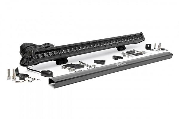 Polaris RZR 30-inch Cree LED Light Bar - (Single Row | Black Series) by Rough Country