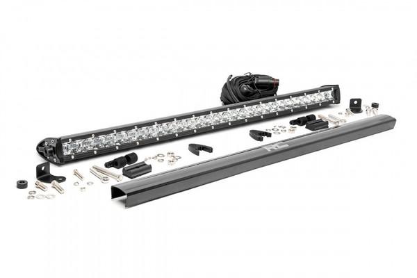 Polaris RZR 30-inch Cree LED Light Bar - (Single Row   Chrome Series) by Rough Country
