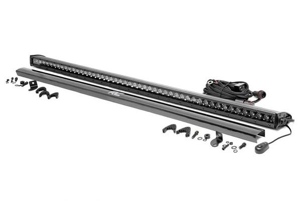 Polaris RZR 50-inch Straight Cree LED Light Bar - (Single Row | Black Series) by Rough Country