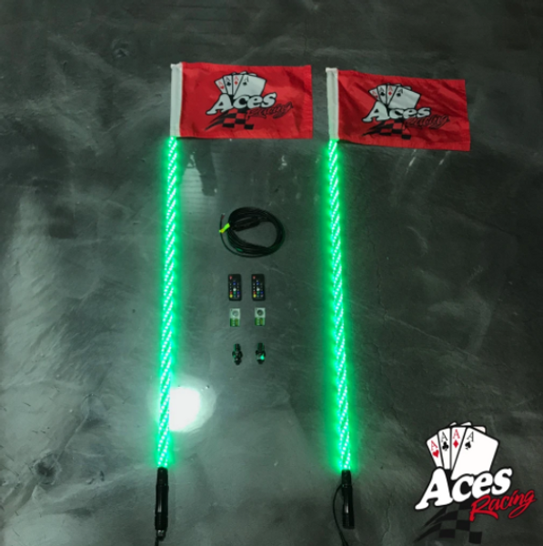 Polaris RZR 200 Combination Deluxe Lighted Whips