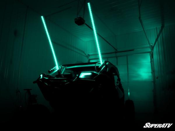 Polaris RZR 5' RGB LED Whip Lights by SuperATV