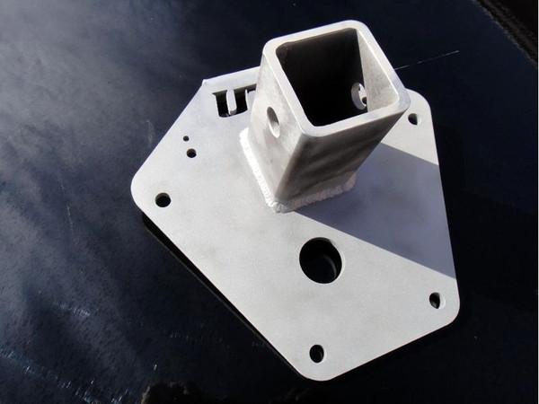 "Polaris RZR 2"" Receiver Hitch Rear Gusset Plate - Blk by UTV Inc"