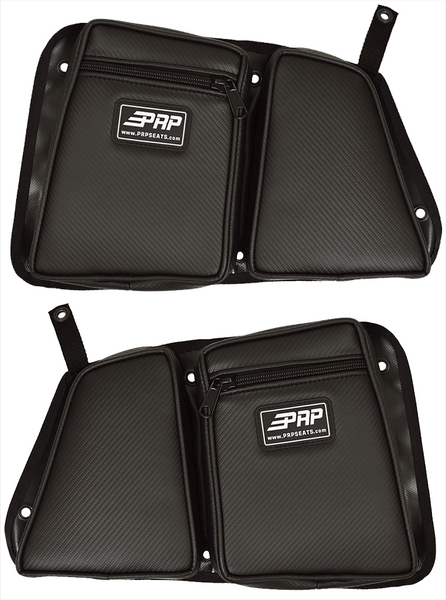 Polaris RZR 4 XP 1000 /  XP Turbo Rear Door Bag & Knee Pad For Stock Doors