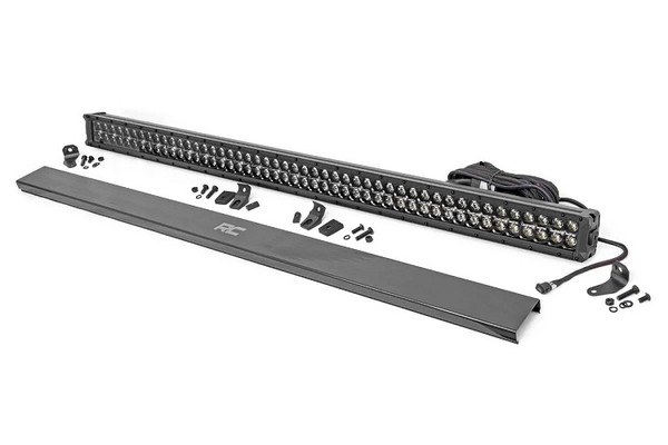 Polaris RZR 50-Inch Cree Led Light Bar - (Dual Row | Black Series W/ Amber Drl) by Rough Country