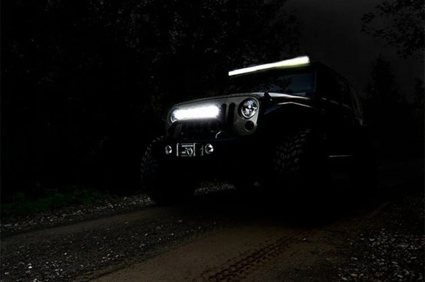 Polaris RZR 50-Inch Cree Led Light Bar - (Dual Row | Chrome Series W/ Cool White Drl) by Rough Country