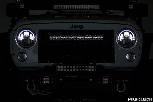 Polaris RZR 50-Inch Curved Cree Led Light Bar - (Dual Row | Black Series W/ Cool White Drl) by Rough Country