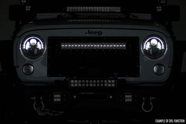 Polaris RZR 54-Inch Curved Cree Led Light Bar - (Dual Row | Chrome Series W/ Cool White Drl) by Rough Country