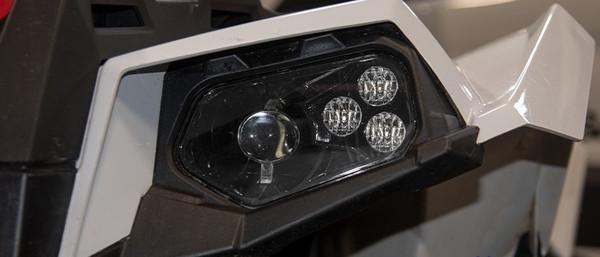 Polaris RZR 570 Black LED Headlights & Adapter Harnesses by Quad Logic