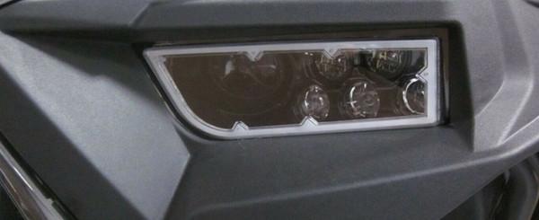 Polaris RZR RGB Full Color Function LED Ring Headlights by Quad Logic