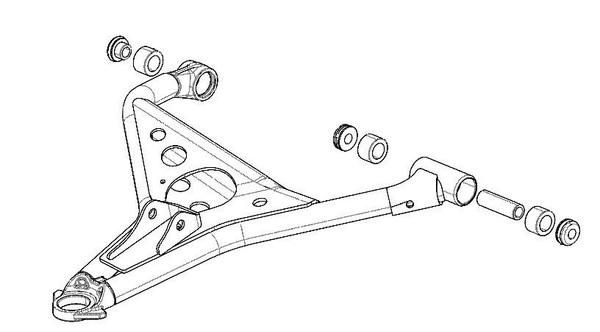 Polaris RZR 1000 Upper A-Arm Bushing & Shaft Rebuild Kit by Quad Logic