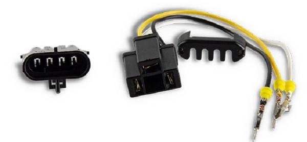 Polaris RZR 1000 / 1000-S Chrome LED Headlight Conversion Kit by Quad Logic