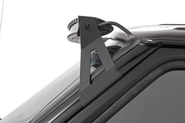 """Polaris RZR 50"""" Single Row Curved CREE LED Light Bar (Chrome Series) by Rough Country"""