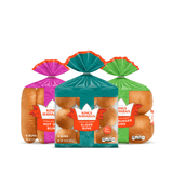 Grilling Party Combo Pack includes one pack of King's Hawaiian Original Hawaiian Sweet Hamburger Buns 8ct, one pack of King's Hawaiian Original Hawaiian Sweet Hot Dog Buns 8ct, and one pack of King's Hawaiian Original Hawaiian Sweet Slider Buns (Pre-Sliced) 9ct