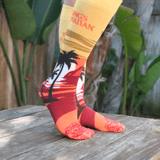Stylish, trendy, and comfy pair of King's Hawaiian Sunset Socks