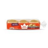 King's Hawaiian honey wheat english muffins in packaging