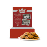 chocolate chip macadamia nut cookies package on a a white background