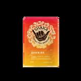 Image of front of packaging for Shaka Tea Sunrise Bag tea