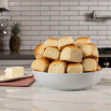 irresistible bowl piled high with delicious King's Hawaiian Savory Butter Rolls