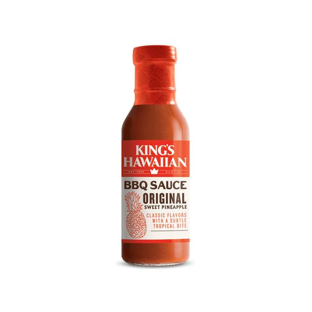 Bottle of King's Hawaiian Original Sweet Pineapple BBQ Sauce 14.5oz